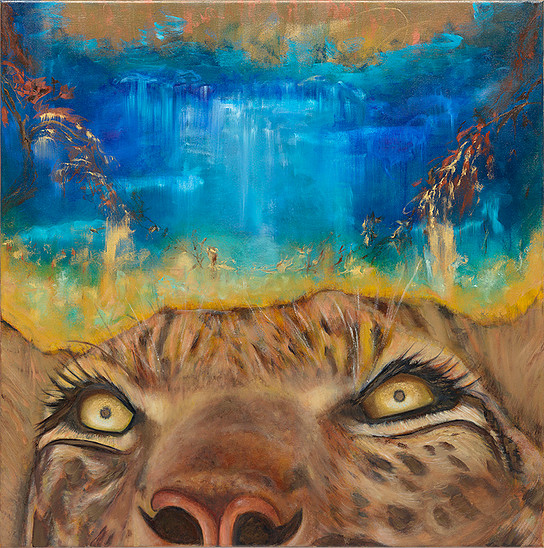 Sacred Africa 30x30 oil on canvas $1500.